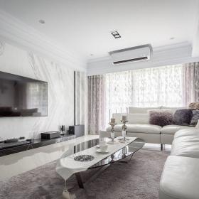 94平現代歐式風格客廳裝修設計