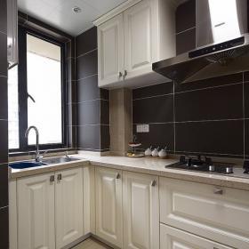 136平三居简欧美式混搭之厨房装修效果图