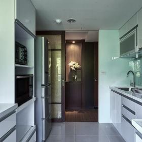 83平簡約現代小戶型之廚房裝修效果賞析