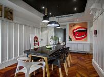 130平年輕的混搭風三居餐廳布置裝飾效果圖
