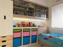 儿童房设置了强大的收纳功能