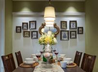 118平溫馨自然混搭三居之餐廳裝飾效果圖