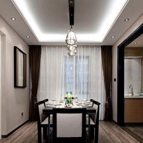 91平簡潔現代兩居之餐廳整體裝修圖展示