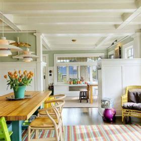 餐厅-餐厅的打造是温馨的暖色调