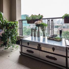 168平现代时尚两居阳台置物柜效果图