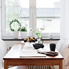 79平北欧简约两居室设计之餐厅窗户