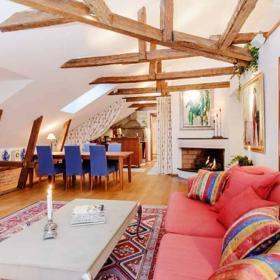 華麗美式風格二居室餐廳效果圖