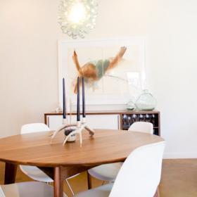 新時代簡約復式家居餐廳效果圖