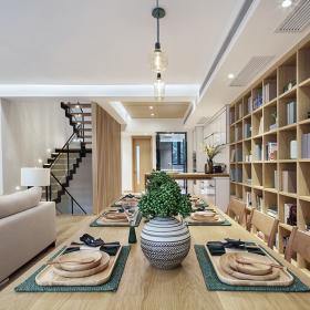 200平米復式餐廳書柜設計效果圖