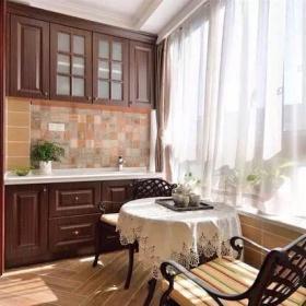 220平美式三居之陽臺收納柜設計效果圖