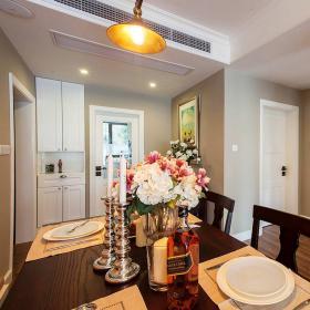 76平美式風復式兩居餐廳裝飾效果圖