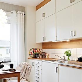 79平北歐簡約兩居室設計之餐廳廚房公用空間