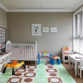 109平混搭式三居兒童房整體裝飾效果圖