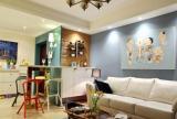 为空间的丰富的彩主要靠墙面与物品来点缀
