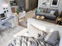 卧室因为空间问题设计成了开放式的