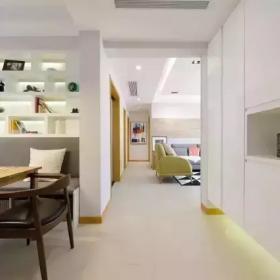 120㎡簡約大兩居走廊設計效果圖