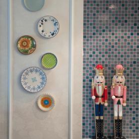 可愛簡約風三室一廳裝飾