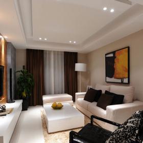 84平米大氣簡約風格客廳沙發效果圖