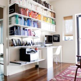 新時代簡約復式樓書房設計