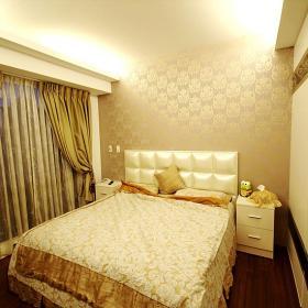 簡約風格臥室窗簾圖片