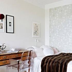 為了節省空間 將臥室的截取一段用作衛浴間