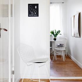 清新簡約風80平一居室走廊設計