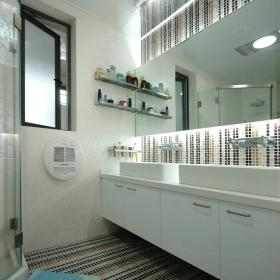 126平溫馨簡約婚房之衛生間內部裝修效果圖