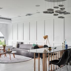 舒怡兩居室設計客廳餐廳圖