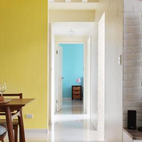 簡約清新三室效果圖之走廊過道