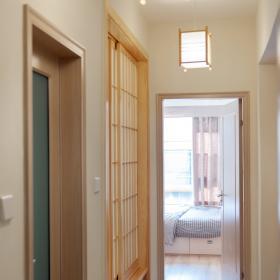 唯美原木簡約三居室走廊效果圖