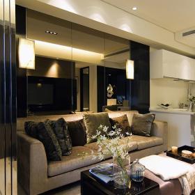 單身貴族現代一居室裝修效果圖之客廳