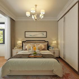 未來花郡98㎡簡約兩居之臥室整體裝修設計效果賞析
