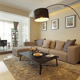 80平米雅致時尚公寓客廳沙發效果圖