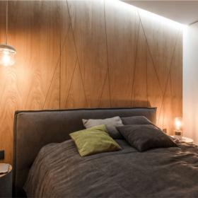 67平超現代感小公寓之臥室設計效果圖