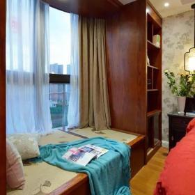 97平新中式二居之主臥榻榻米設計效果圖