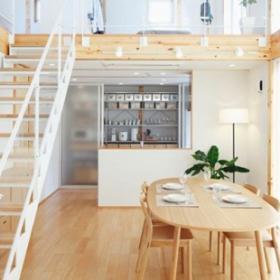 日式風格復式家居餐廳樓梯圖片