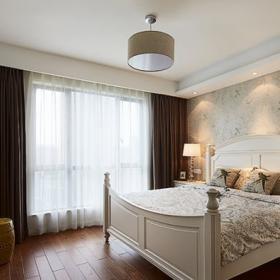 136平三居简欧美式混搭之卧室装饰效果图
