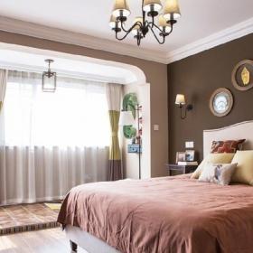 135平米美式三居之臥室整體格局設計效果圖