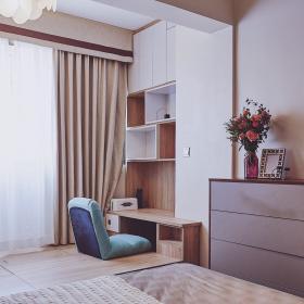 58平方現代風格公寓之臥室榻榻米裝修設計效果展示