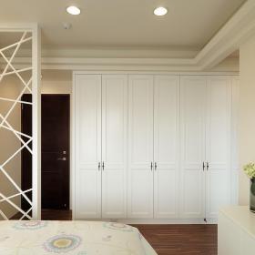 現代自然風臥室衣柜設計效果圖