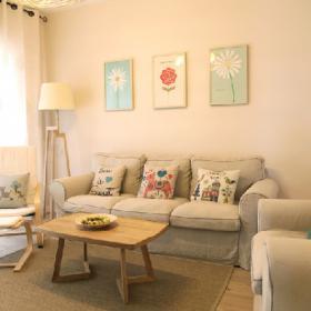 日式清新住宅客廳圖片
