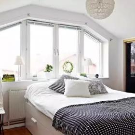 清新雅致北歐復式公寓之臥室裝飾效果圖