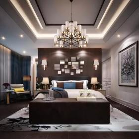560平新中式别墅装修—主卧