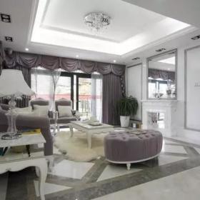 121㎡歐式三居之客廳裝修設計效果賞析
