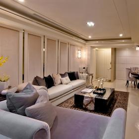 120平歐式三居之客廳整體效果圖