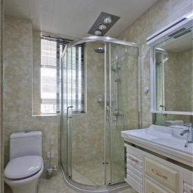 130平现代欧式三居之卫生间淋浴房设计效果图