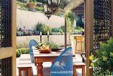 别墅入户花园波西米亚门后的庭院世界丰富丰富多彩装修效果图