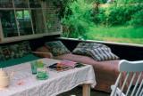 120㎡入户花园北欧漫花朵朵下的度假风庭院餐厅效果图