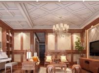中式古典风格抚州华萃庭院中式别墅效果图大全