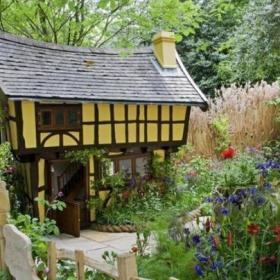 入戶花園鄉村風格庭院花園圖片裝修效果圖
